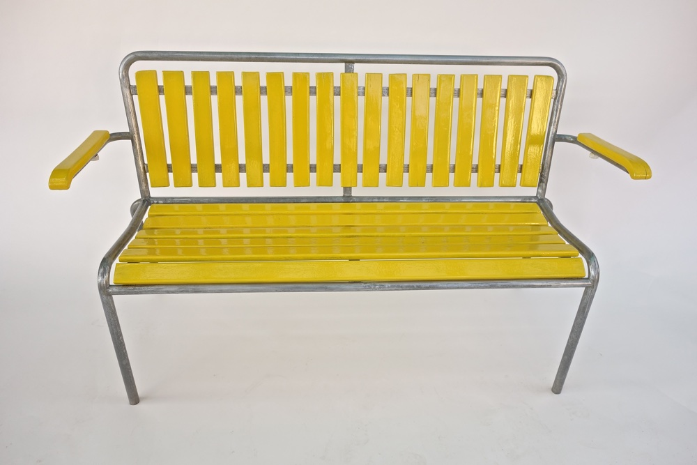 Banc de jardin bigla 1950 vendu warehouse furniture for Banc de jardin original