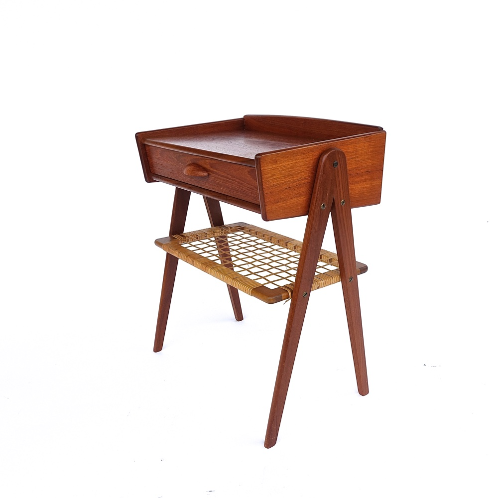 Table d appoint en teck scandinave 1960 vendu - Table d appoint scandinave ...