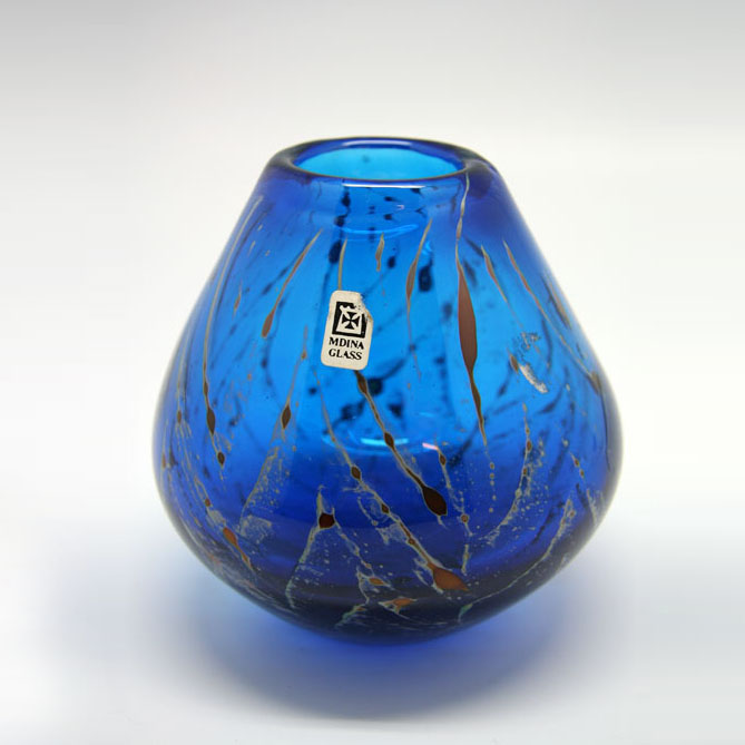 Glass vase Mdina 1970
