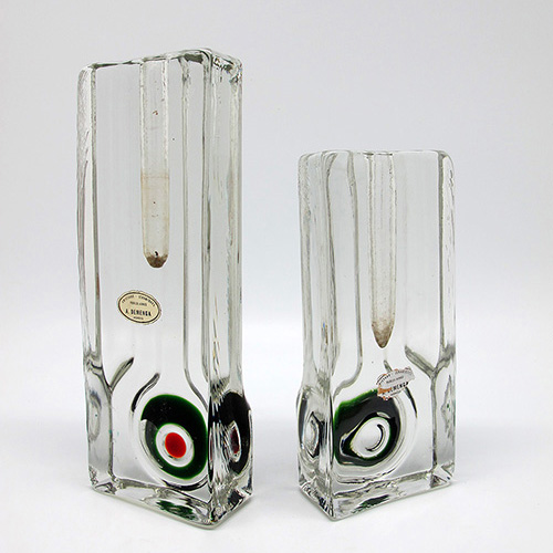 Glass vases 1970