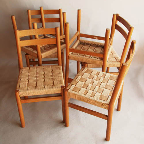 Six scandinave chairs 1970