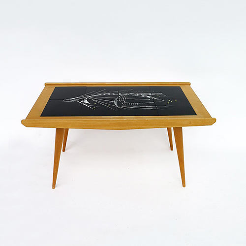 Table en céramique G. Olivier 1950