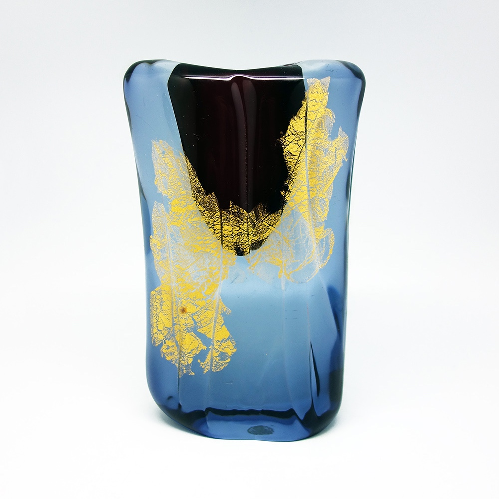 Glass vase Salviati&Co 1960