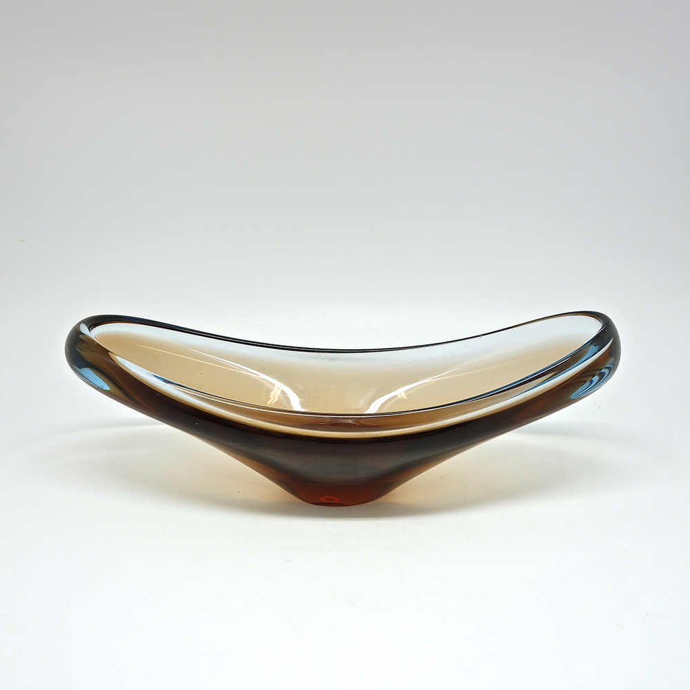 Coupe en verre scandinave 1960