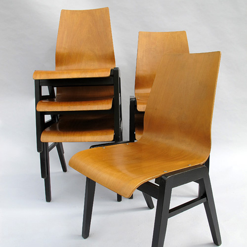 Set of 6 chairs 1950
