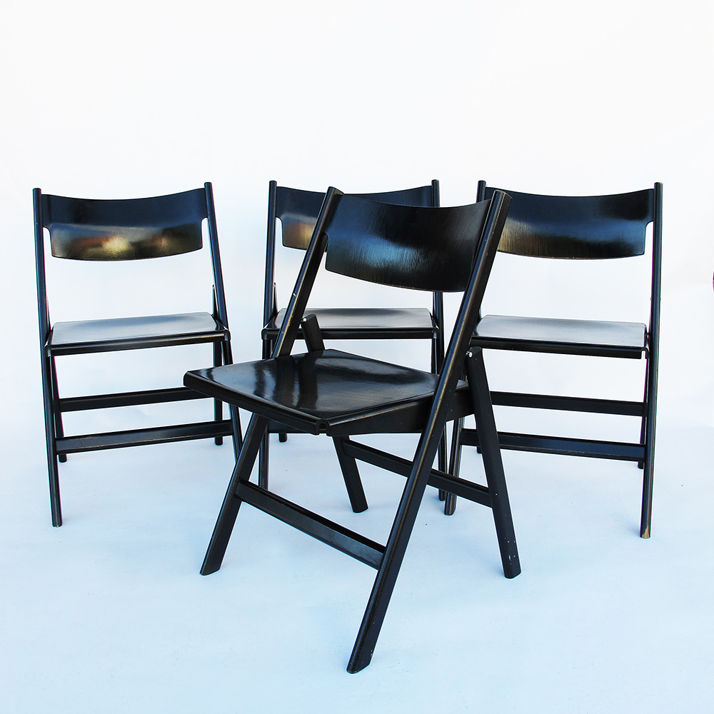 Set of 4 chairs Hans Eichenberger 1960