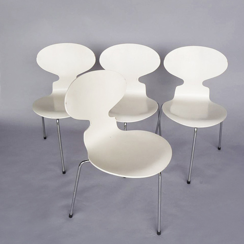 "Set of 4 "" Ant "" chairs Arne Jacobsen 1950"