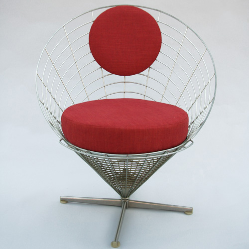 "Chair "" Wire cone "" Verner Panton  1960"