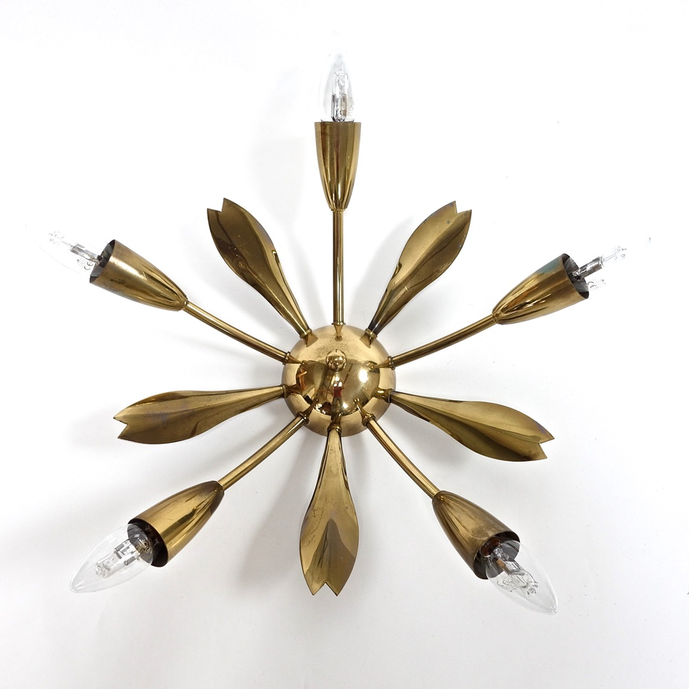 Ceiling lamp brass 1960