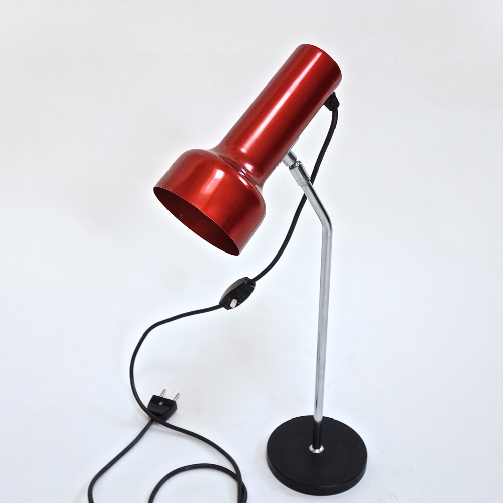Table lamp anodised  swiss 1960