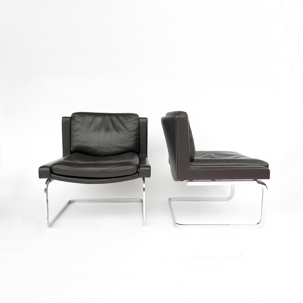 Leather chairs R. Haussmann De Sede 1960