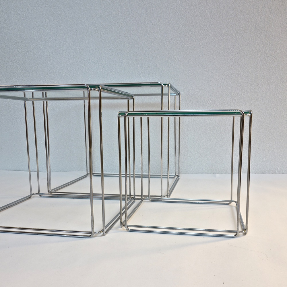 "Set of Nesting Tables ""Isocele"" by Max Sauze 1970"