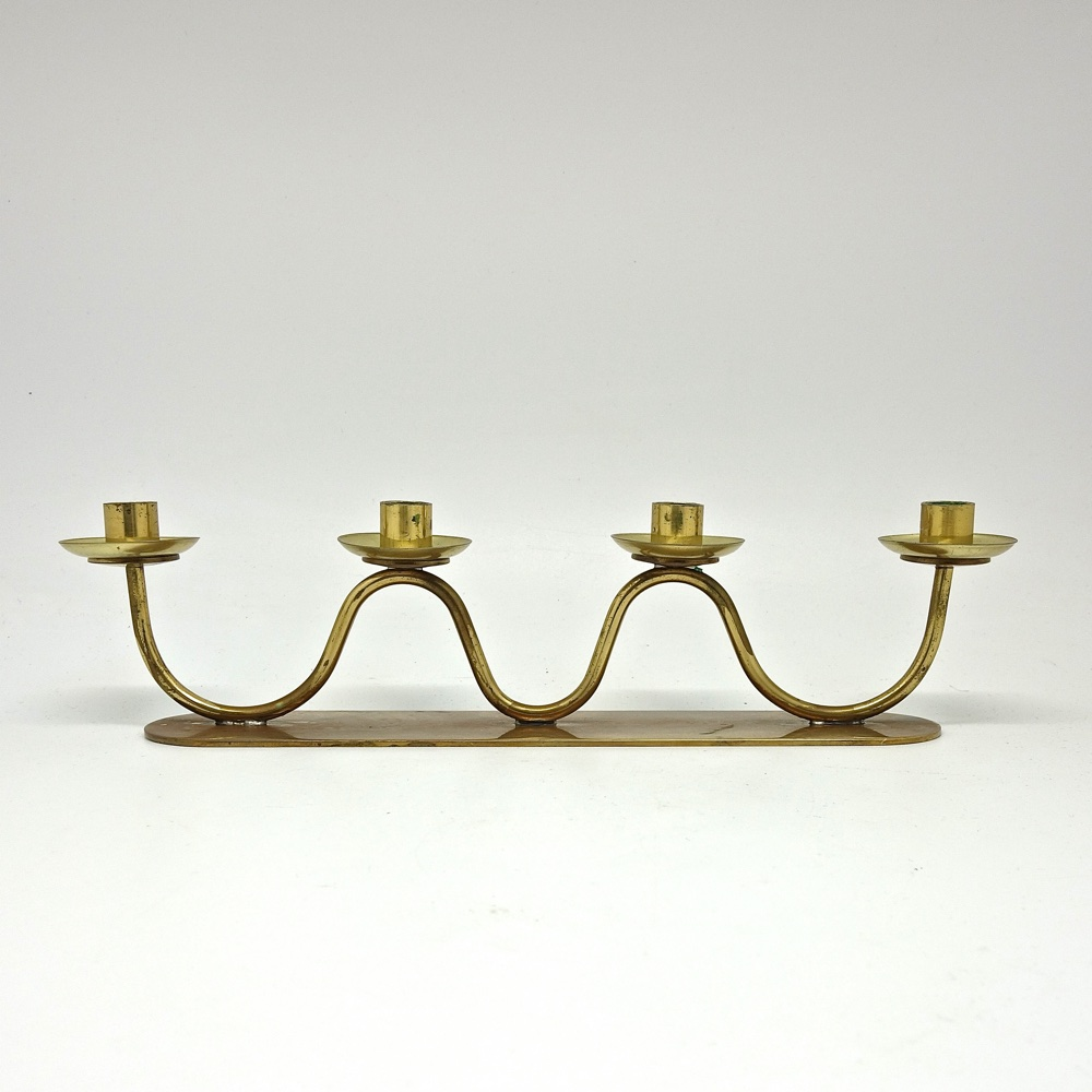 Candlestick by Gunnar Ander for Ystad Metall 1950
