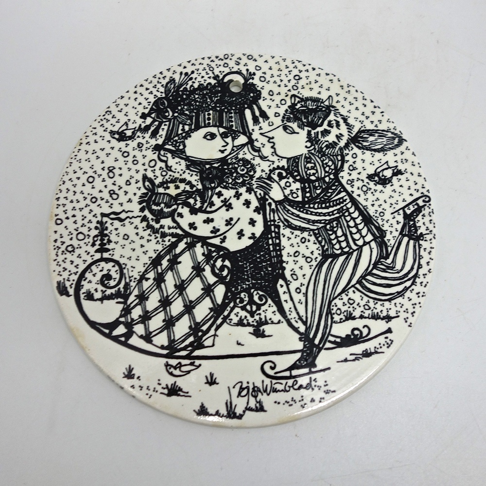Ceramic plate by Bjorn Wimblad  Denmark 1970