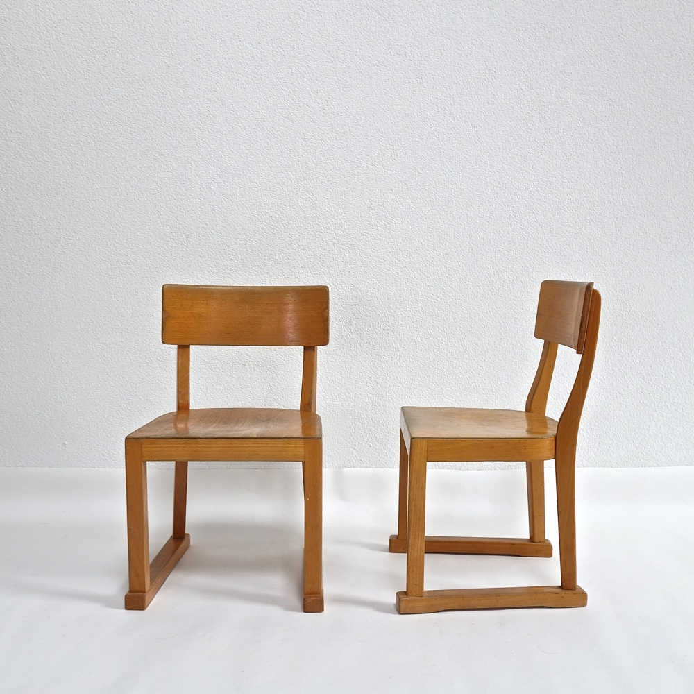 Children's chairs Attrib. Wilhelm Kuienzle 1950