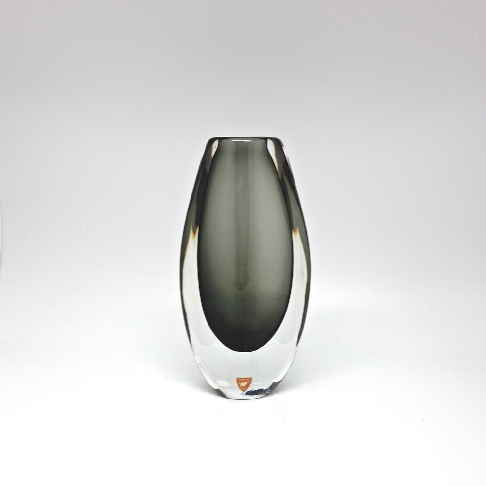 Glass vase Orrefors sweden 1950