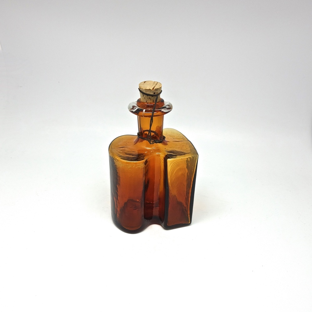 Glass bottle-vase  Holmegaard Denmark 1950