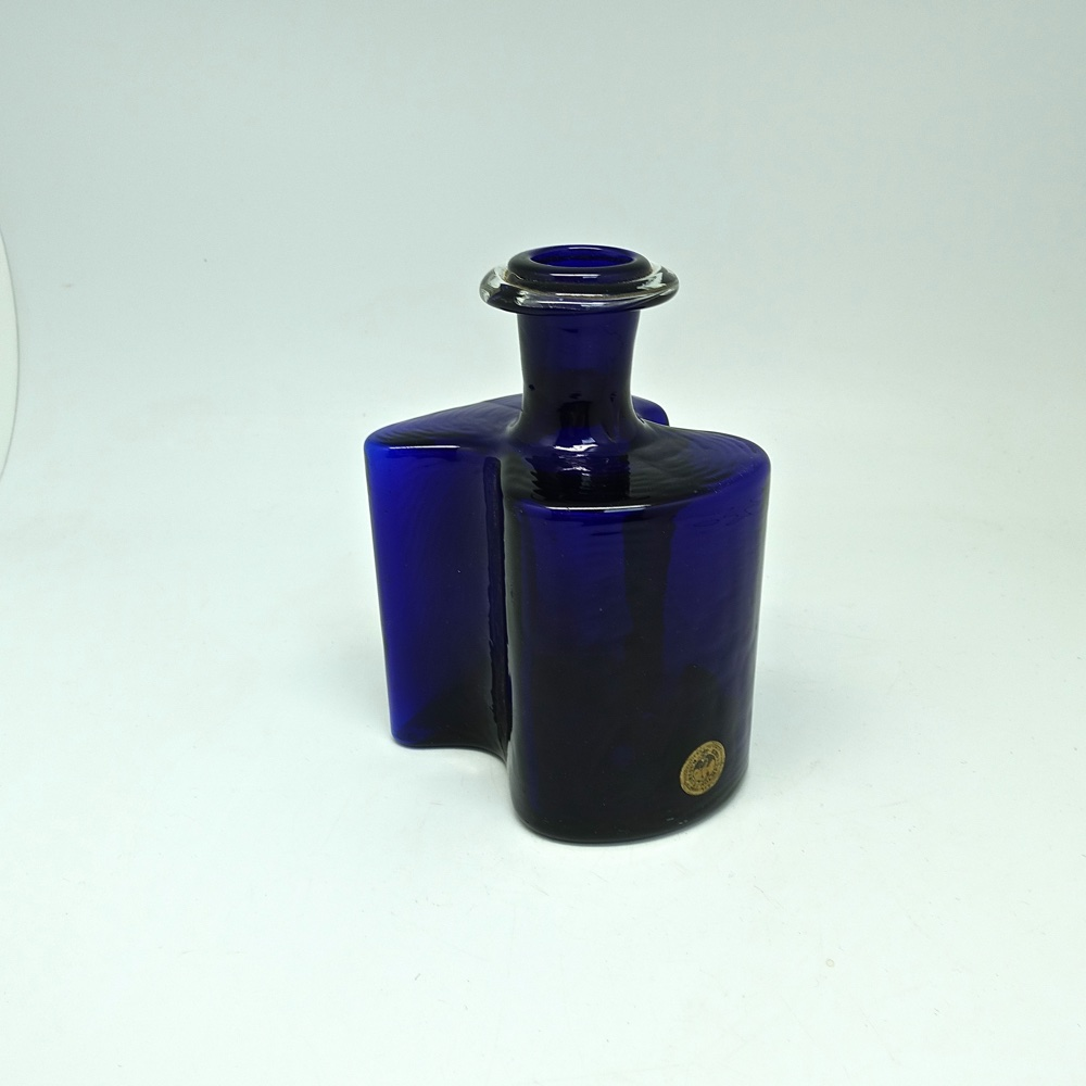 glass bottle Holmegaard Denmark 1950