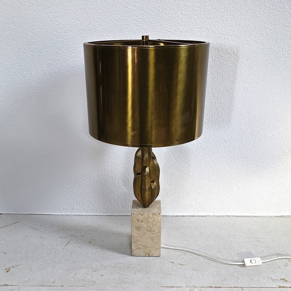 "Bronze lamp ""Euphorbe""  by Maison Charles Paris 1970"