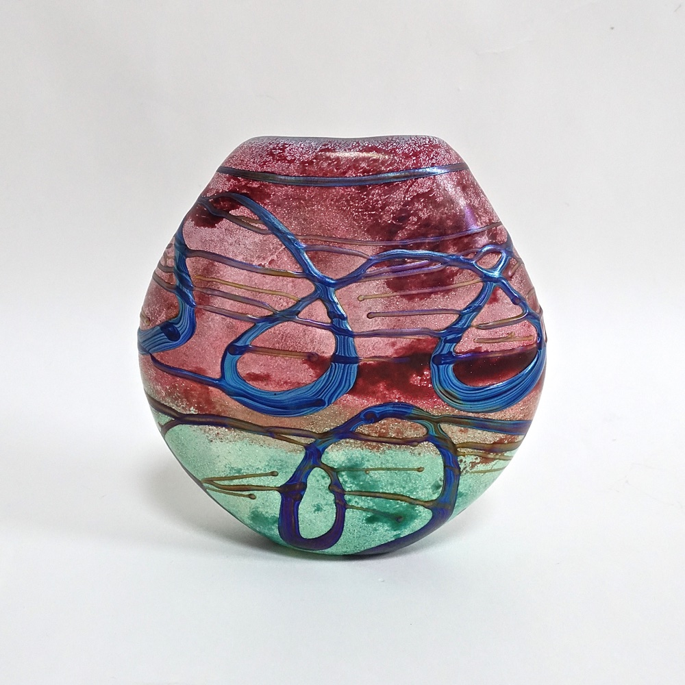 glass vase Jean-Claude Novaro 1993 France