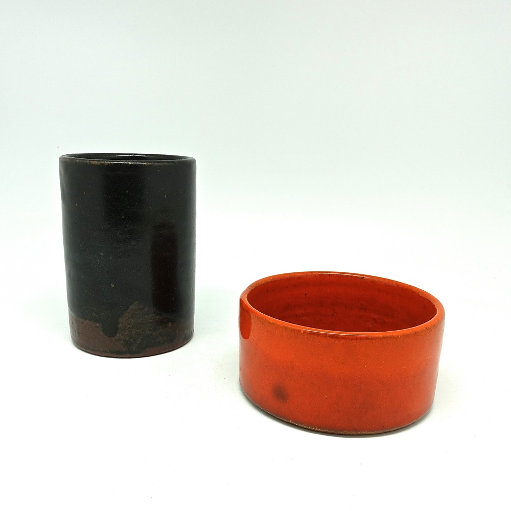 ceramic vase and bowl Edouard Chapallaz  1970