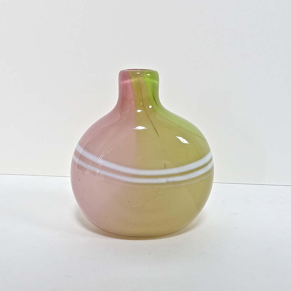 glass vase Claude Morin France 1979