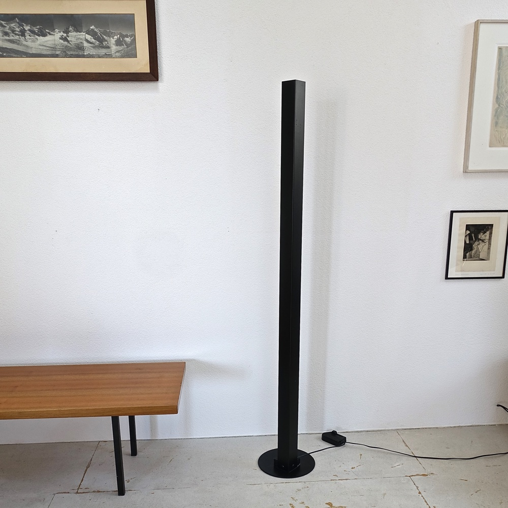 metal floor lamp swiss design 1970