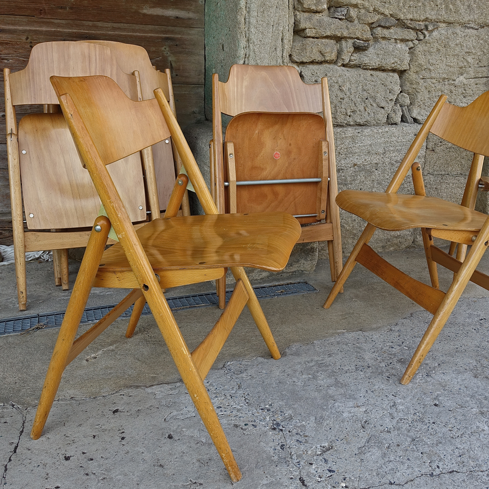 16 chairs SE18 Egon Eiermann 1950