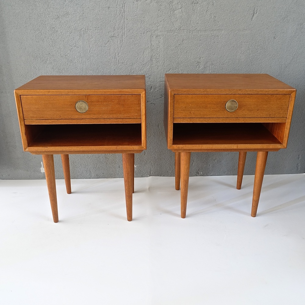 paire of bedside tables Johannes Andersen Dyrlund 1960