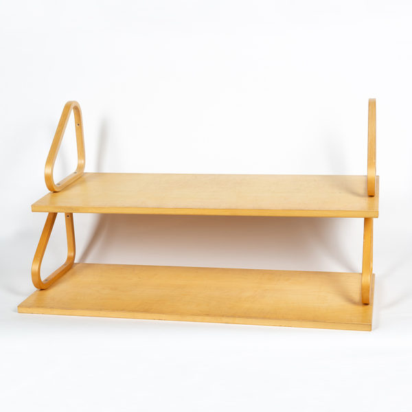 Two 112A wall shelves by Alvar Aalto circa 1970