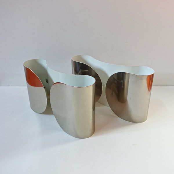 "Pair of ""Foglio"" lamps Tobia Scarpa Flos 1966"