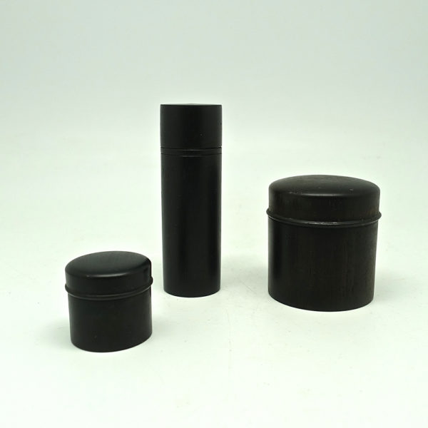 set of 3 ebony boxes 1900