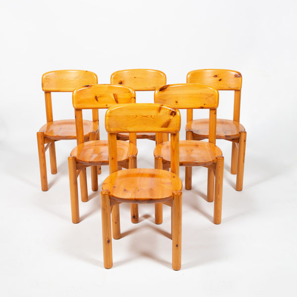 Set of 6 chairs by Rainer Daumiller in pine from the 60s